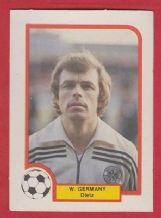 West Germany Bernard Dietz Duisberg